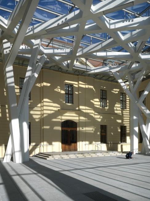 Glass Courtyard Jewish Museum Berlin Libeskind