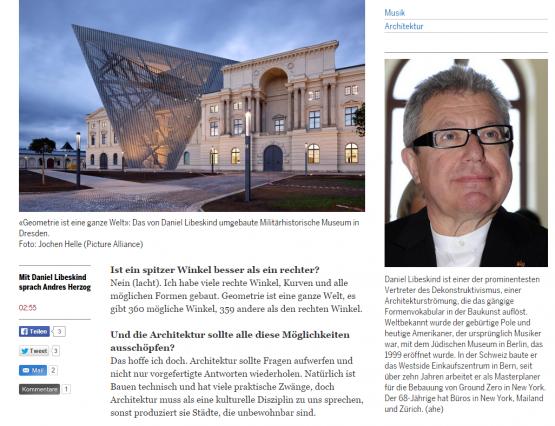 «Architektur ist wie Musik» - Kultur  Architektur - tagesanzeiger