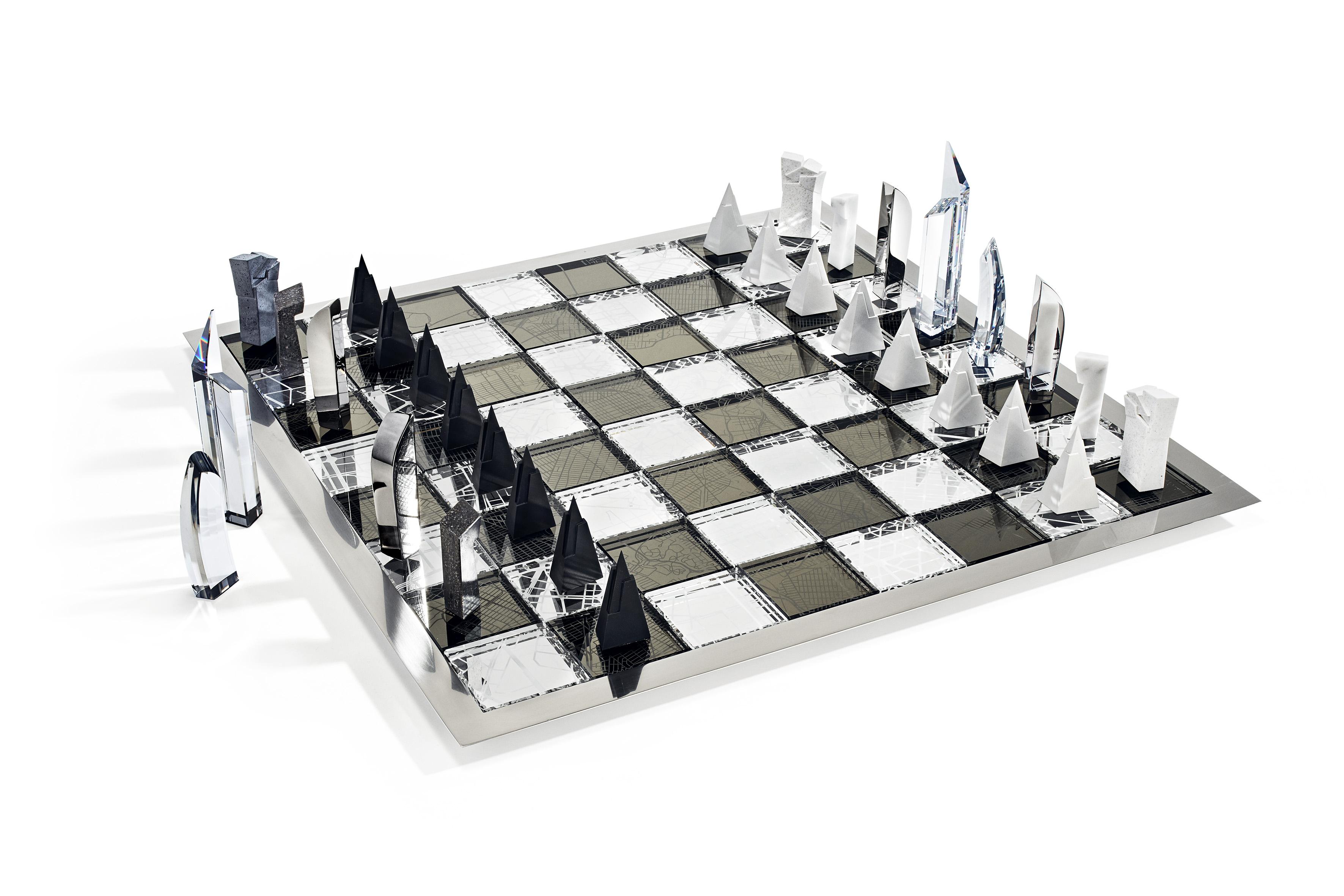 swarovski chess set libeskind. Black Bedroom Furniture Sets. Home Design Ideas