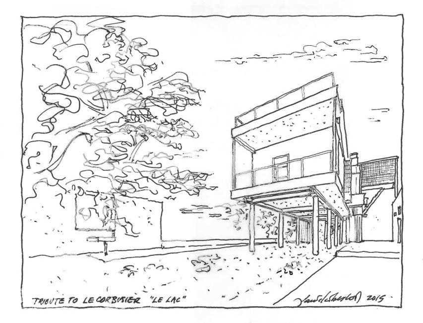 homage to le corbusier Tu Le C daniel libeskind proposes raising the house on a set of pilotis c studio libeskind
