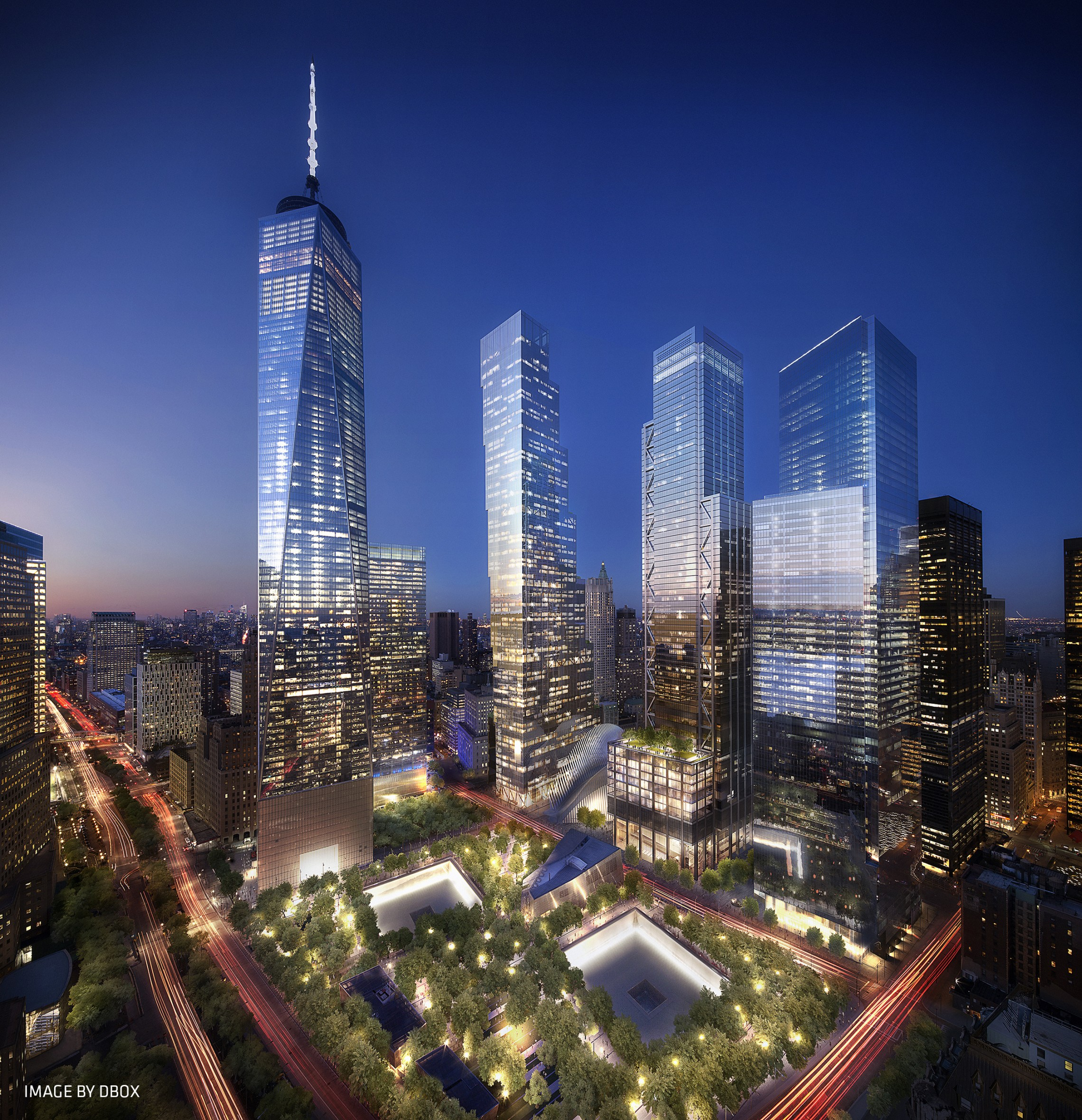 World trade center master plan libeskind for 2 world trade center