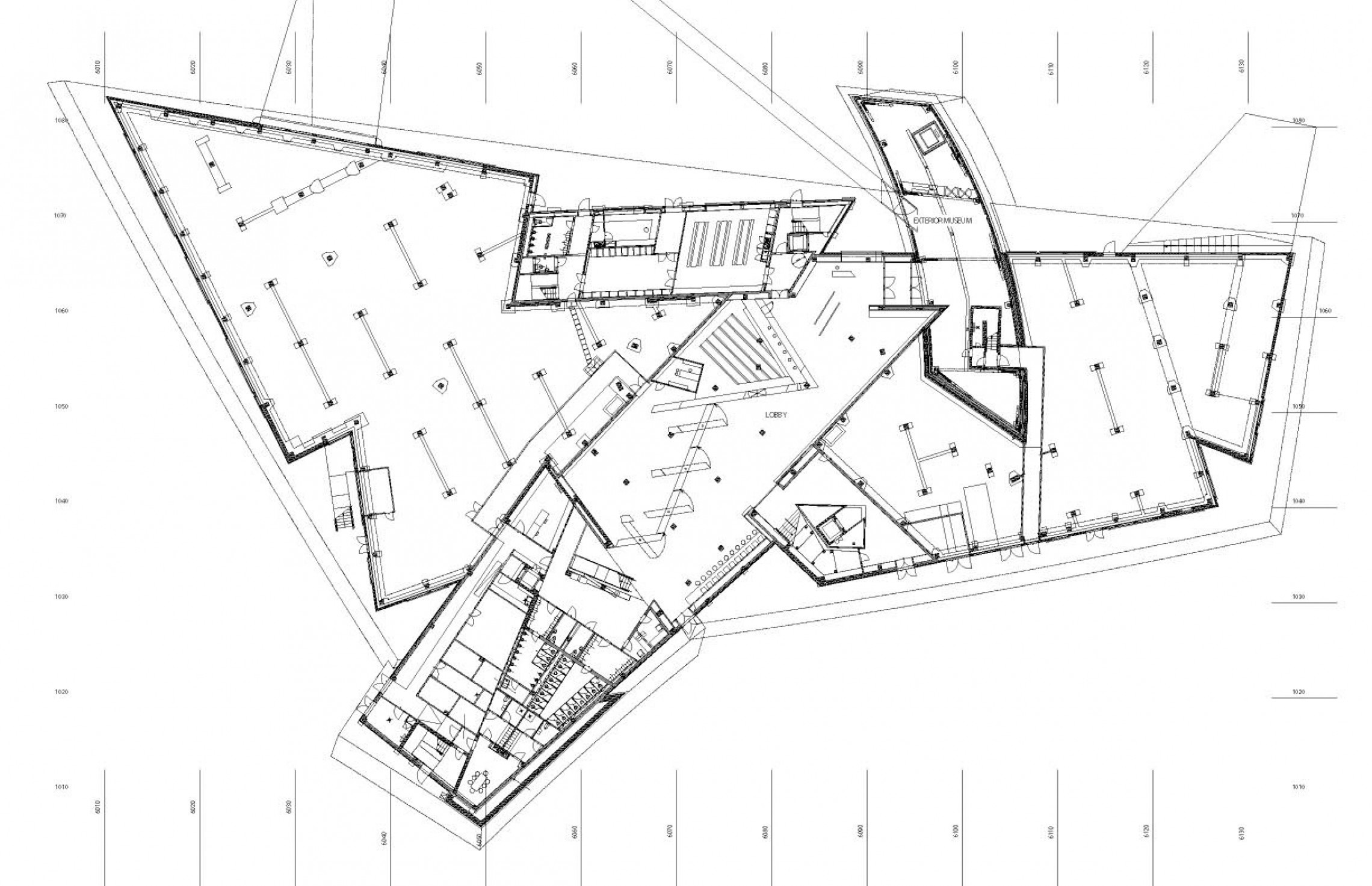 The Curve Floor Plan Imperial War Museum North Libeskind